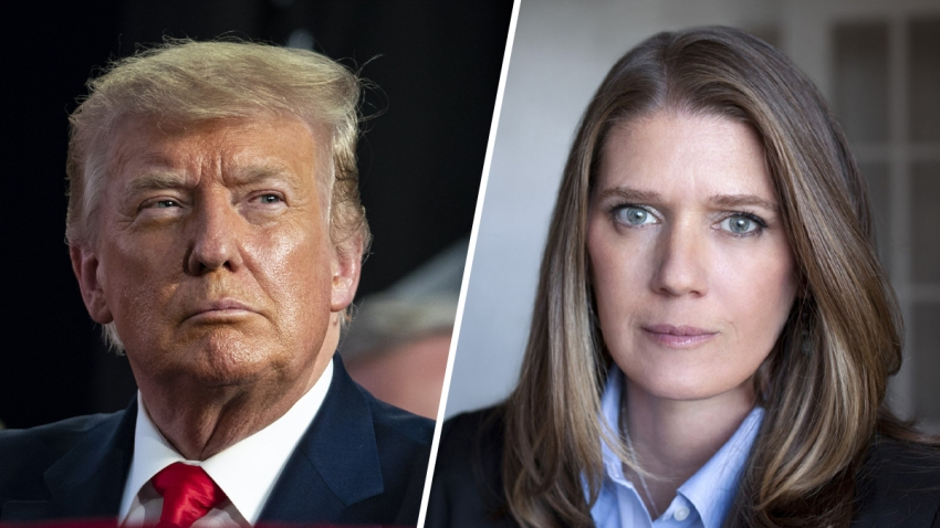 President Donald Trump (left) and his niece, Mary Trump (left).