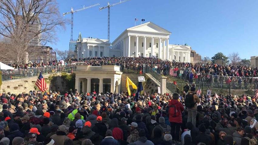 Virginia Capitol gun rights rally on Jan. 20