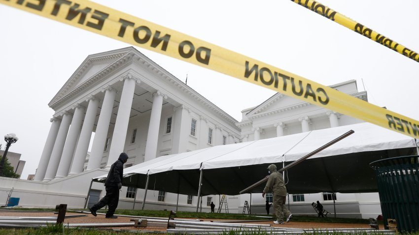 Tent for Virginia lawmakers