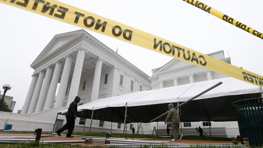 Tent for Virginia lawmakers