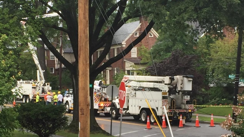 western ave power lines down 073015