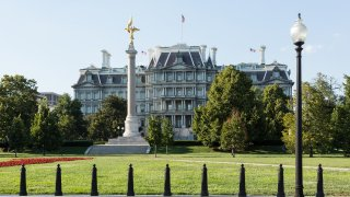 Eisenhower Executive Office Building (EEOB) — formerly known as the Old Executive Office Building (OEOB) and even earlier as the State, War, and Navy Building built between 1871 and 1888. National Historic Landmark in Washington DC