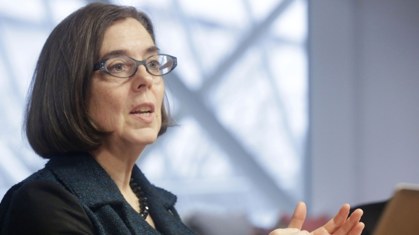 Kate Brown, governor of Oregon, speaks