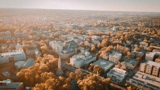 File photo - Aerial view of UNC campus