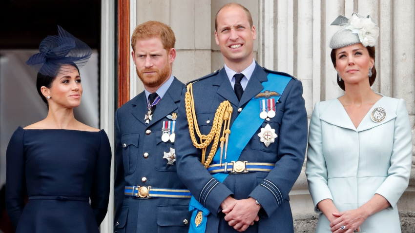 Meghan, Duchess of Sussex, Prince Harry, Duke of Sussex, Prince William, Duke of Cambridge and Catherine, Duchess of Cambridge
