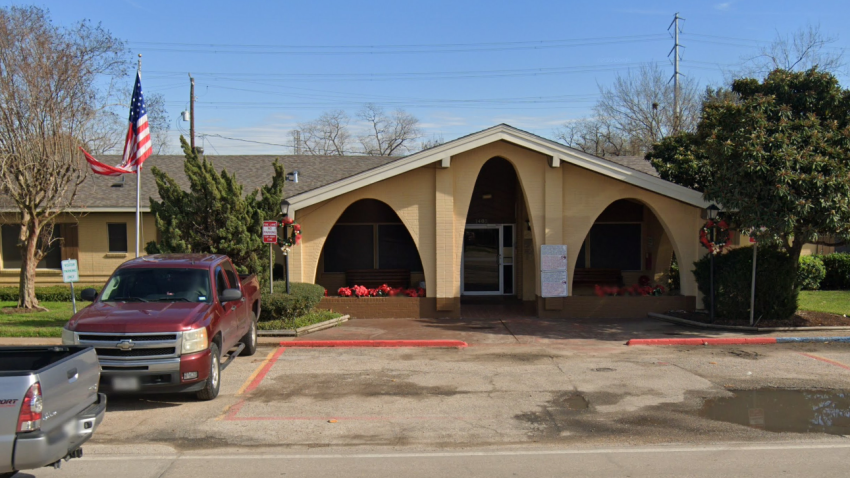 The Jacinto Nursing and Rehabilitation Center in Houston, where at least 12 residents were infected with COVID-19 and one died.