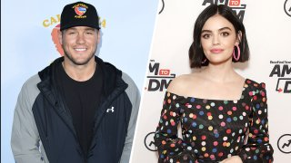 (Left) Colton Underwood), (Right) Lucy Hale.