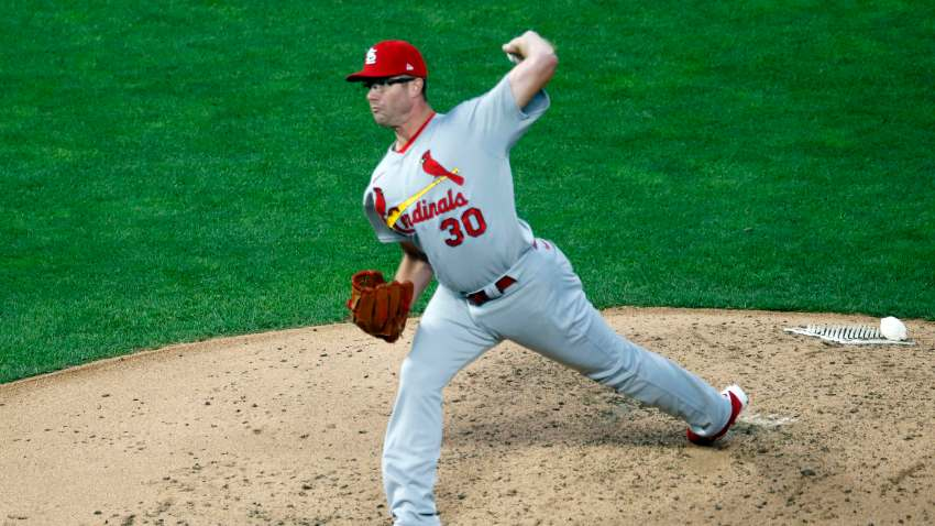 St. Louis Cardinals pitcher Tyler Webb throws in relief against the Minnesota Twins in the fifth inning of a baseball game Wednesday, July 29, 2020, in Minneapolis.