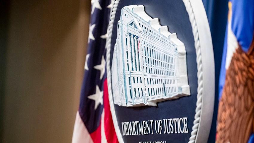 The U.S. Department of Justice seal, Dec. 5, 2019, in Washington, D.C.