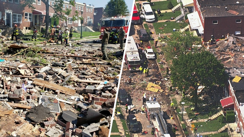 Photos: Explosion in Baltimore Destroys Several Homes, Leaves One Dead