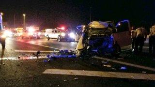 I-95 crash wreckage