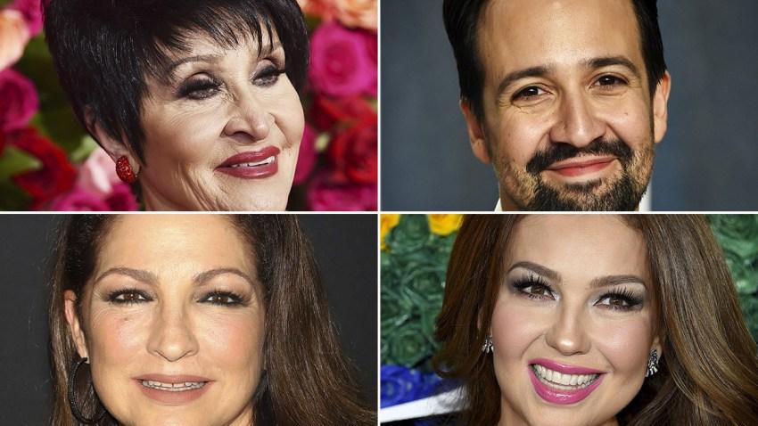 Chita Rivera, Lin-Manuel Miranda, Gloria Estefan and Thalia