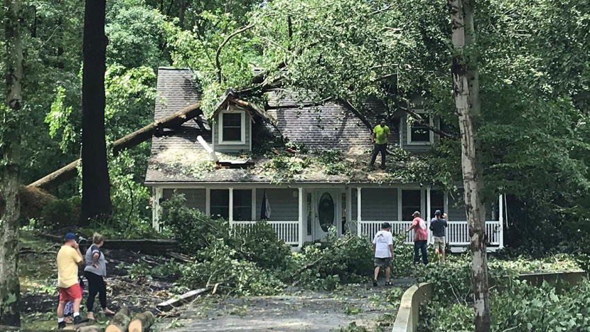 Photos and Videos: Tropical Storm Isaias Unleashes Damage on DC ...