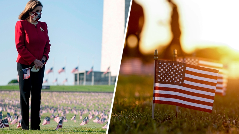 Photos: Thousands of Flags Cover the National Mall to Memorialize COVID-19 Deaths