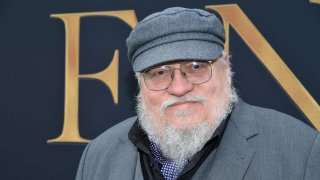 """WESTWOOD, CALIFORNIA - MAY 08: George R. R. Martin attends the LA Special Screening of Fox Searchlight Pictures' """"Tolkien"""" at Regency Village Theatre on May 08, 2019 in Westwood, California."""