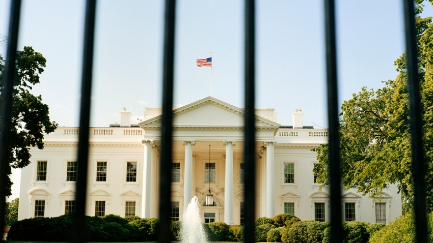 Tall fence outside the White House
