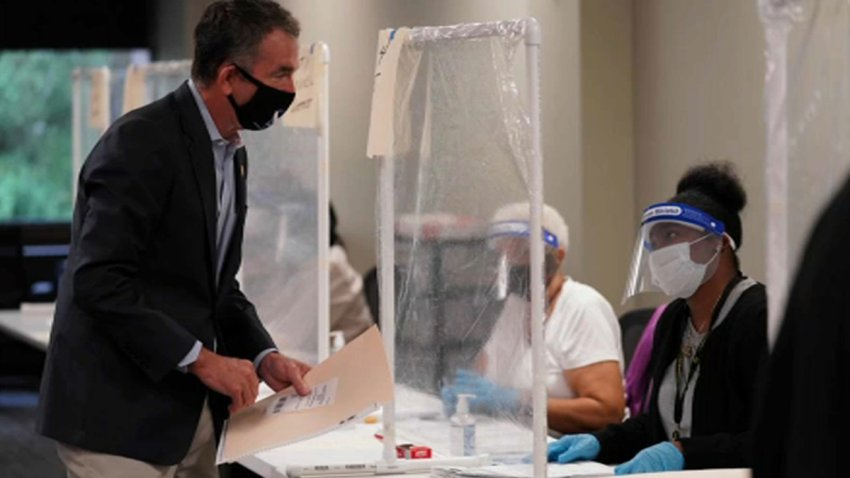 Gov. Ralph Northam voting last week