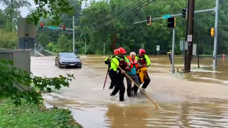 Photos: Floods Lead to Water Rescues in the DC Metro Area
