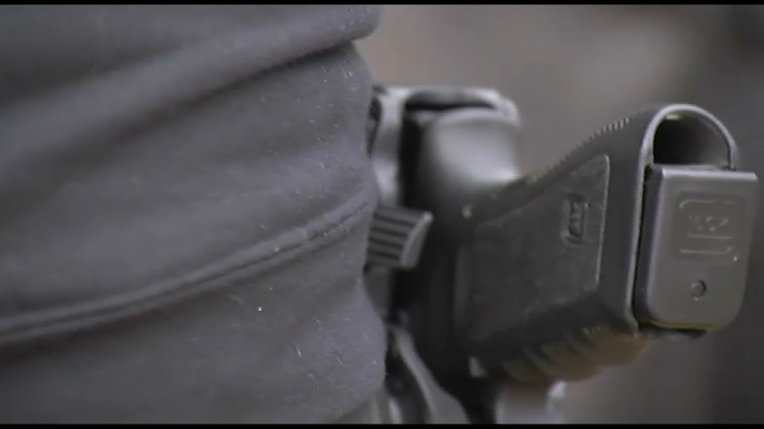 Gun on hip