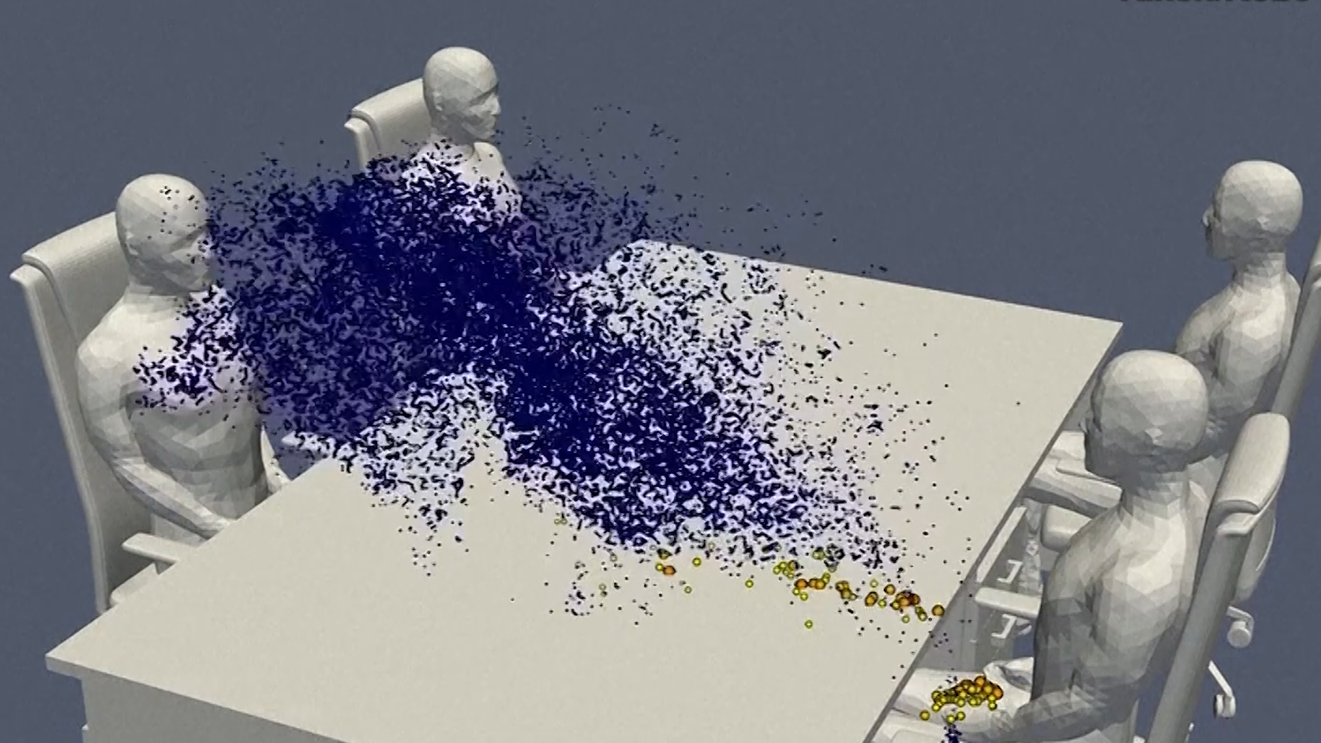 Animation Shows How Coronavirus Spreads At Dinner Table Nbc4 Washington