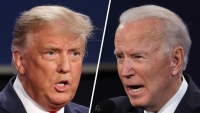 Trump, Biden Scrap on Oil, Virus With Just Over a Week to Go