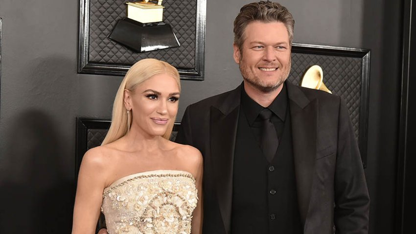 In this Jan. 26, 2020, file photo, Gwen Stefani and Blake Shelton attend the 62nd Annual Grammy Awards at Staples Center in Los Angeles.