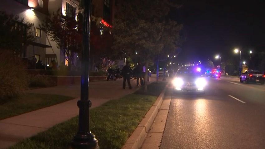 Police outside the Hampton Inn at National Harbor
