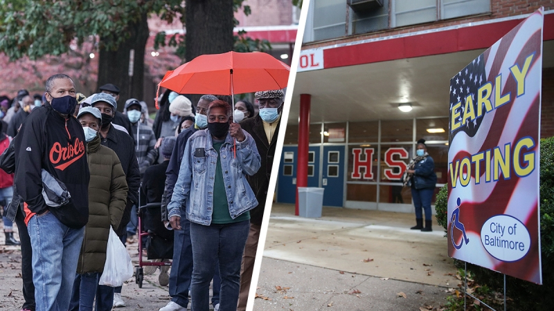 Photos: Maryland Voters Line Up to Cast Their Ballots