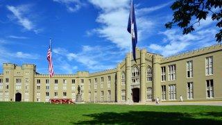 The barracks quad at the Virginia Military Institute