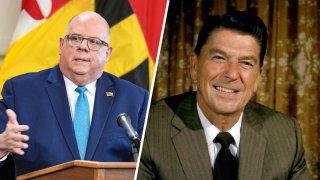 Larry Hogan; late President Ronald Reagan