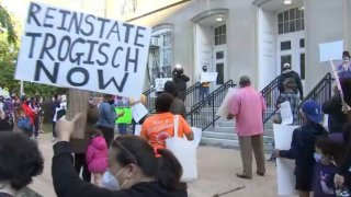 School Without Walls protest