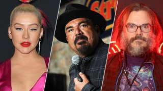 From left: Christina Aguilera, George Lopez and Jack Black were some of the celebrities vetted for a health education advertising campaign on the coronavirus outbreak on behalf of the Department of Health and Human Services, according to documents released by the House on Thursday.