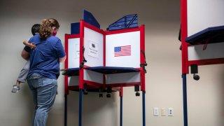 woman voting in alexandria virginia