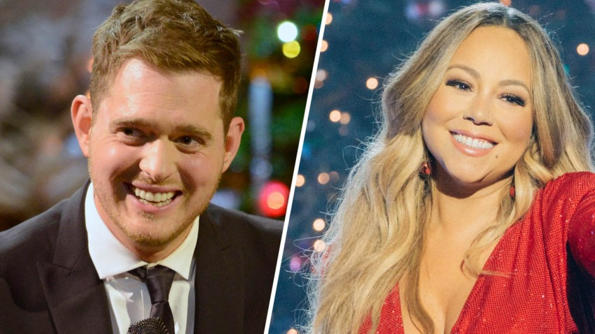 Michael Bublé (left) and Mariah Carey.
