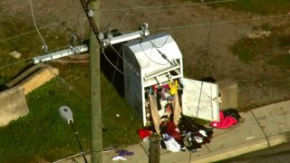 A body was found in a clothing donation bin in Riverdale Park.
