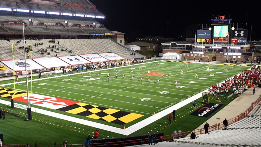 Capital One Field at Maryland Stadium in College Park, Maryland.