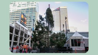 The Christmas Tree at Fountain Square on Nov. 11, 2020.
