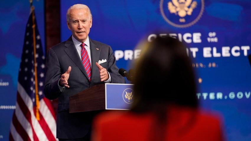 President-elect Joe Biden speaks about jobs at The Queen theater, Friday in Wilmington, Delaware.