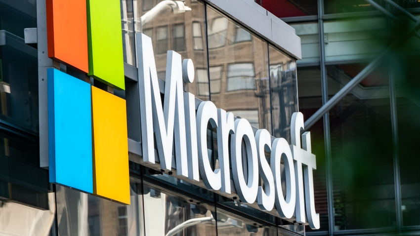 Microsoft signage is displayed outside a Microsoft Technology Center in New York, U.S., on Wednesday, July 22, 2020. Microsoft Corp. is set to post quarterly results after the closing bell and the tech bellwether's performance will likely uphold its standing as a darling of Wall Street.