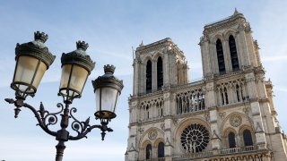 Disassembly Of The Scaffolding Continues At Notre-Dame In Paris