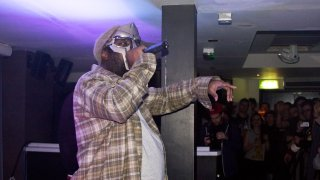 LEEDS, UNITED KINGDOM - NOVEMBER 07: MF Doom performs on stage at O2 Academy on November 7, 2011 in Leeds, United Kingdom.