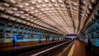 Inside a Metro station