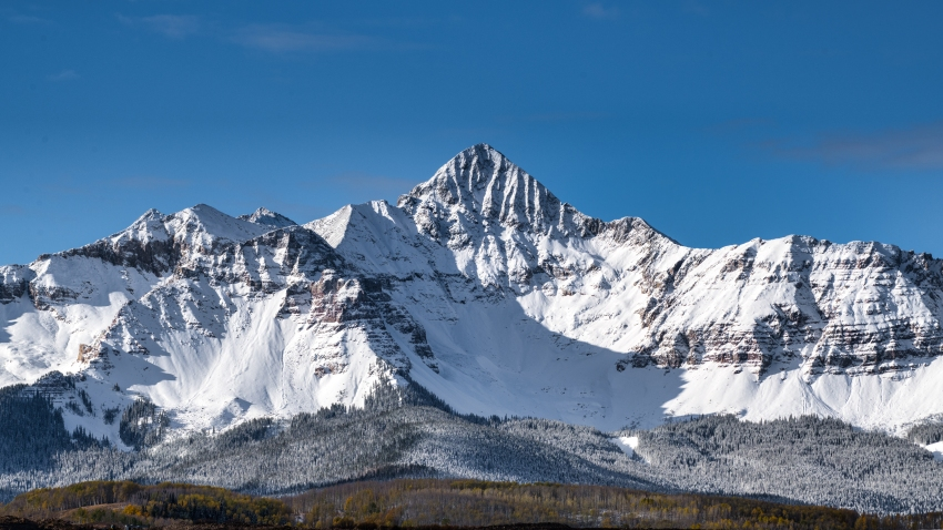 File photo of the San Juan Mountains covered with snow.