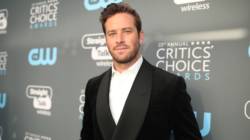 In this Jan. 11, 2018, file photo, actor Armie Hammer attends The 23rd Annual Critics' Choice Awards at Barker Hangar in Santa Monica, California.