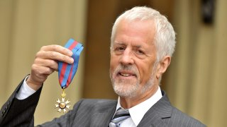 Michael Apted seen at Buckingham Palace after receiving his Order of Saint Michael and Saint George from the Queen. Buckingham Palace, London.
