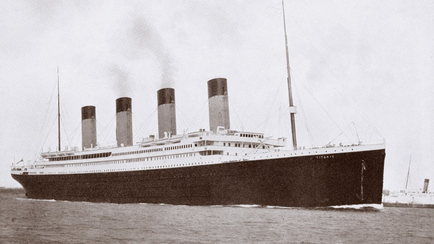 UNSPECIFIED - CIRCA 1800: The 46,328 tons RMS Titanic of the White Star Line which sank at 2:20 AM Monday morning April 15 1912 after hitting iceberg in North Atlantic