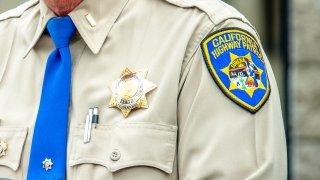 Closeup of a California Highway Patrol Lt.'s uniform