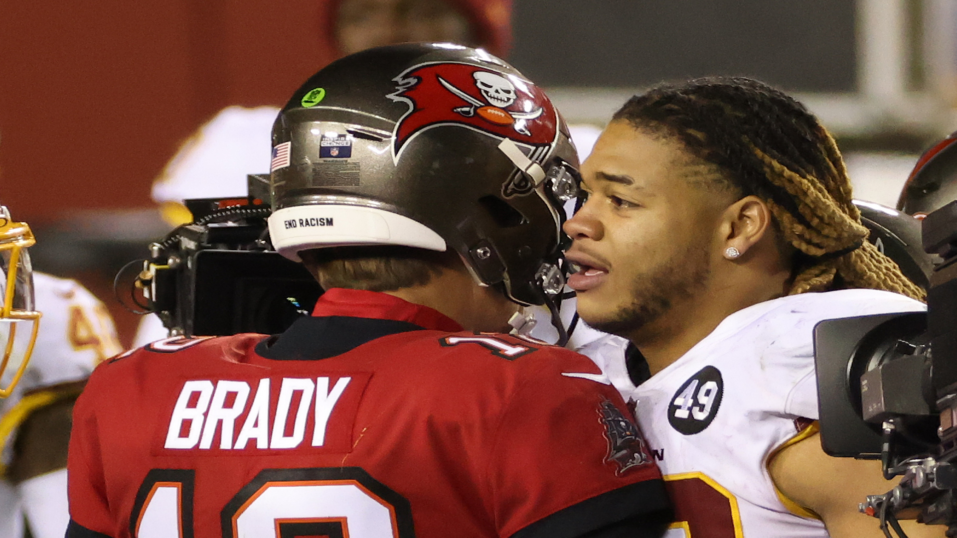 Tom Brady, Chase Young Shared a Moment After Saturday's NFC Playoff Meeting
