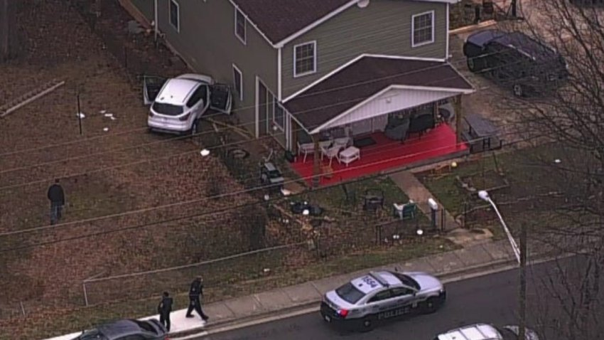 car into house maryland