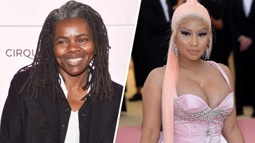 Tracy Chapman (Left), Nicki Minaj (Right).